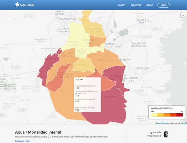 Map CartoDB